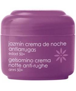 Jazmin crema facial de noche antiarrugas