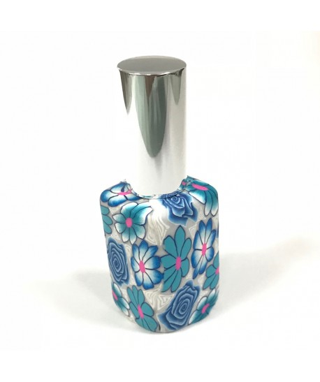 Perfumador vintage rombo azul