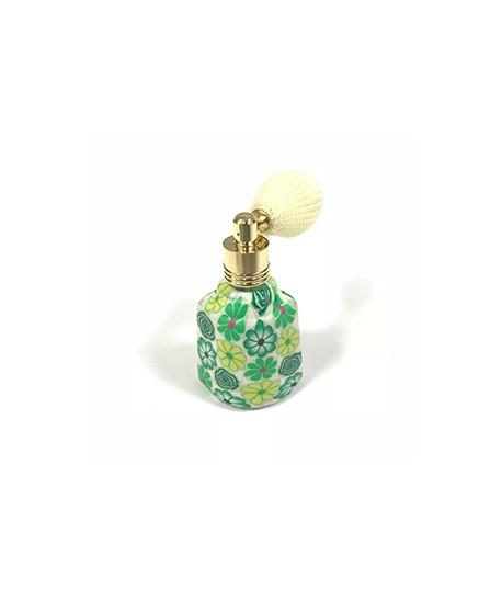 Perfumador retro oval verde con borla