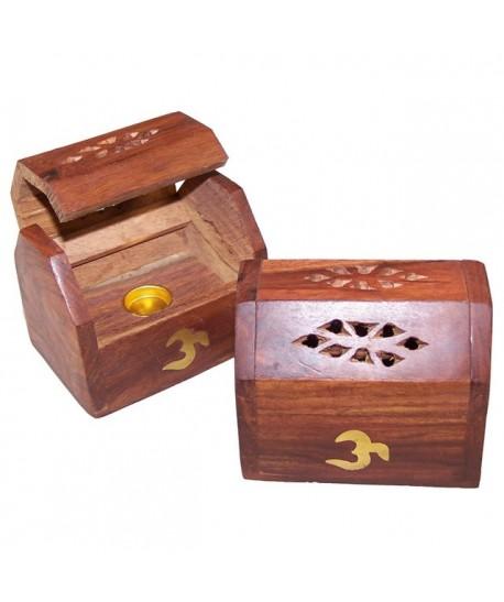 Mini caja de humo de incienso para conos