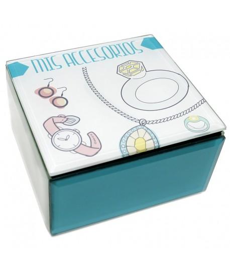 """Caja cristal accesorios """"Golden Chic"""""""
