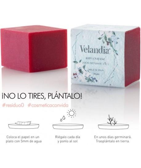Jabón artesano natural exfoliante vegano Velandia