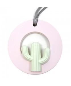 Ambientador colgante rosa cerámica cactus esférico