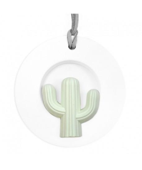 Ambientador colgante blanco cerámica cactus esférico