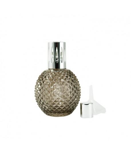 Lámpara catalítica cristal ahumado facetado