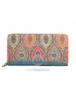 Cartera billetero grande corcho - Claudia