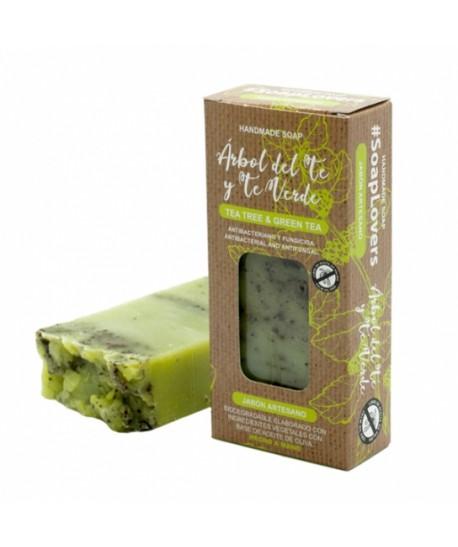 Jabón artesano natural árbol del té y té verde