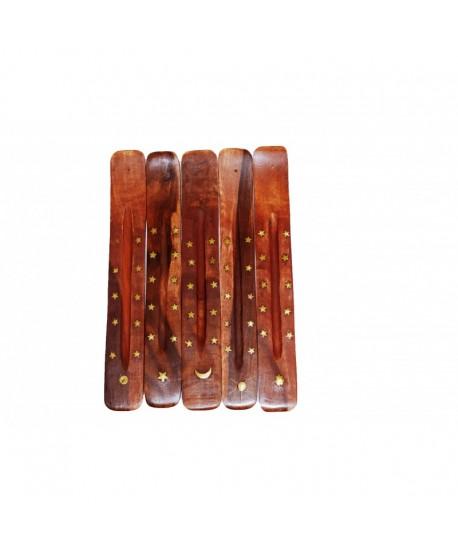 Soporte de madera para varillas de incienso