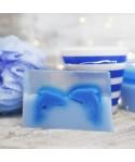 Jabón diseño delfines - geranio