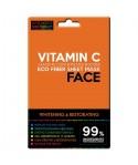 Máscara para rostro de fibras ECO, con VITAMINA C