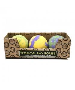 3 bombas de baño tropical bay